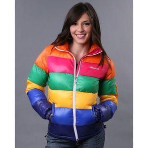 Akademiks rainbow 'nano rib' down jacket